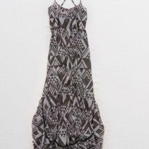 Aerie Print Ruffle Maxi Dress